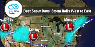 Snow Before You Go: Don't Miss This Week's Storm Parade - ©Meteorologist Chris Tomer