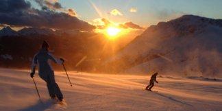 #Trentinoskinsunrise in Val di Fassa - ©Visittrentino.it