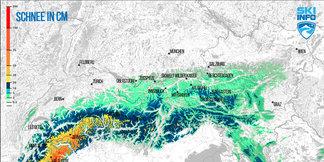 Schneebericht: Südalpen erwarten noch einmal große Neuschneemengen - ©[c] ZAMG/Skiinfo