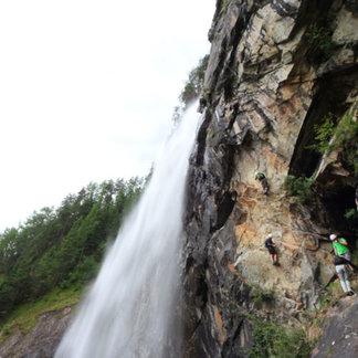 Der neue Part des Klettersteigs Lehner Wasserfall