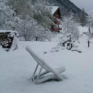 Macugnaga - Ieri mattina. Oggi si scia Monte ZMoro e sino 1 maggio. - ©iPhone di Pietro