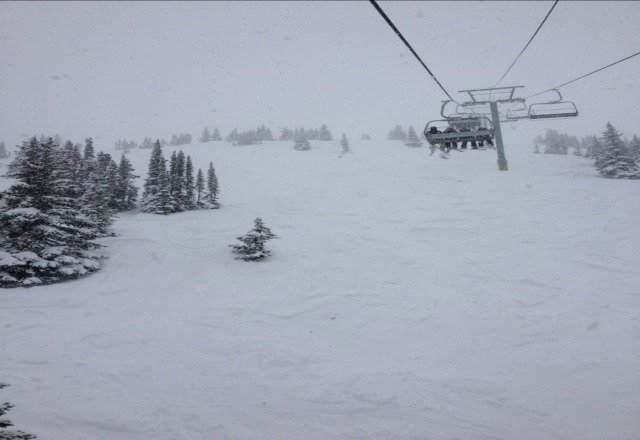 lots of fresh snow. great time