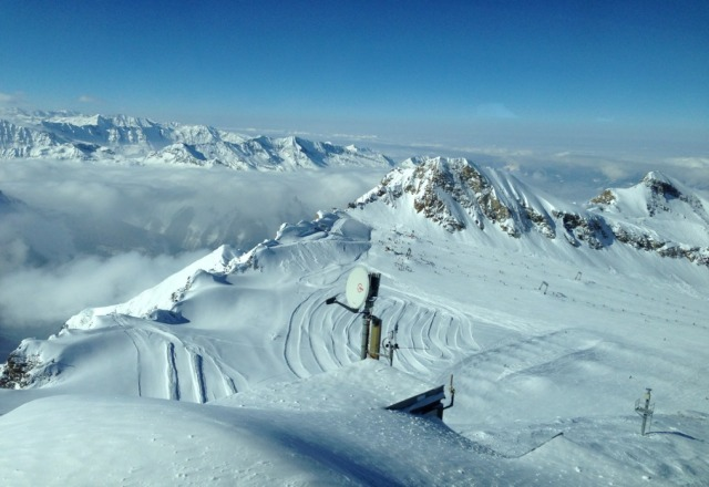 very cold on the glacier so layer up well!  great snow conditions though