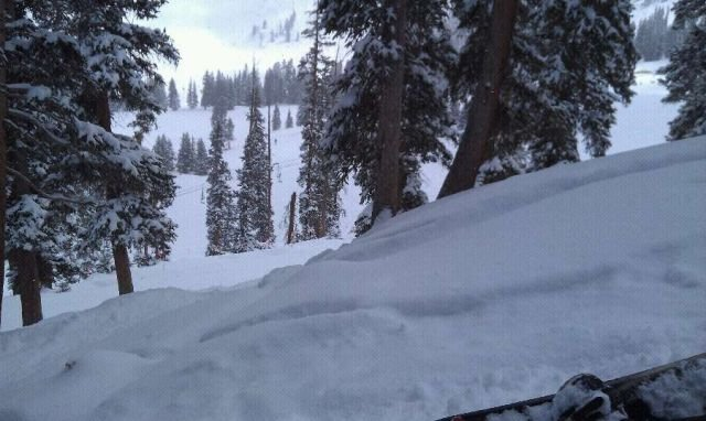 Awsome day at basin not the greatest winter ever but at least its ending with some fresh snow