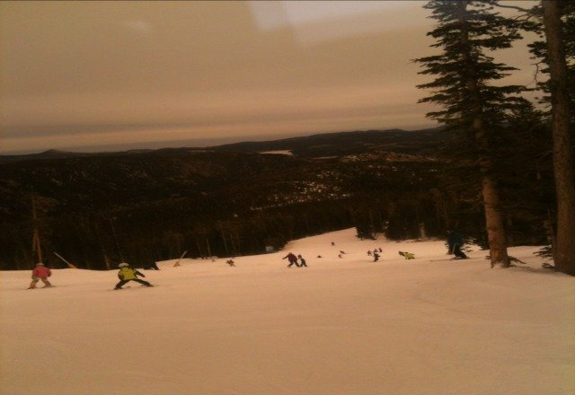 this is a pic from the slopes look at the view