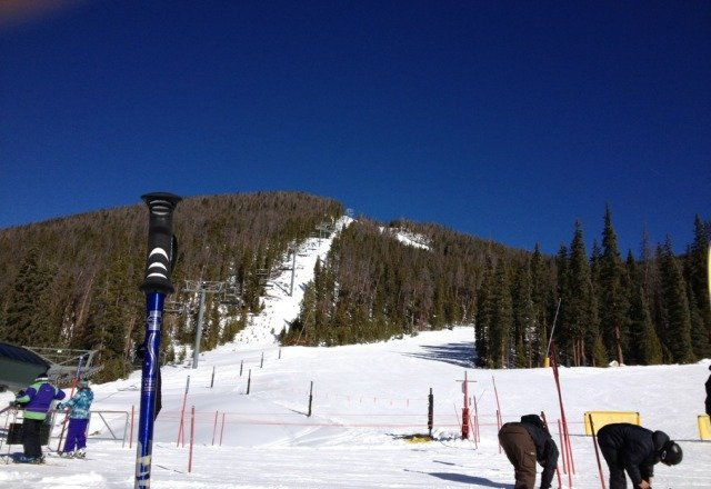 nice runs, the runs not open are mostly the bowl and tree runs. temps and snow conditions are above avg. to good at best