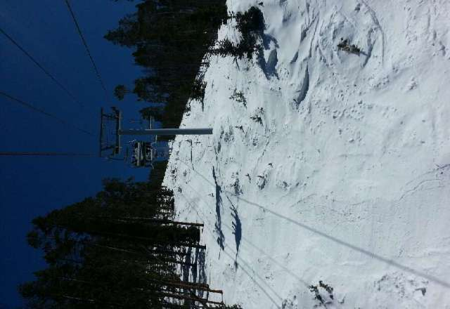 Super fun corn snow in the afternoon. Bluebird Easter day.