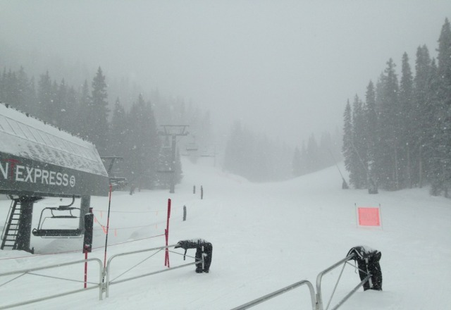 Polar Queen Expess lift today. Epic spring powder and no lines!!!