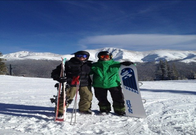 great conditions today after good powder drops over last two days! Dom & Baz from the UK!