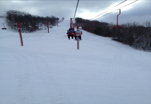 snow and weather conditions were great yesterday!