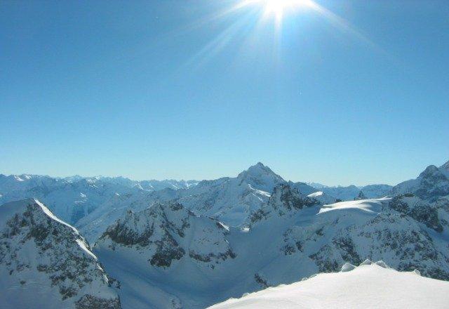 summit beautiful day at Belleayre