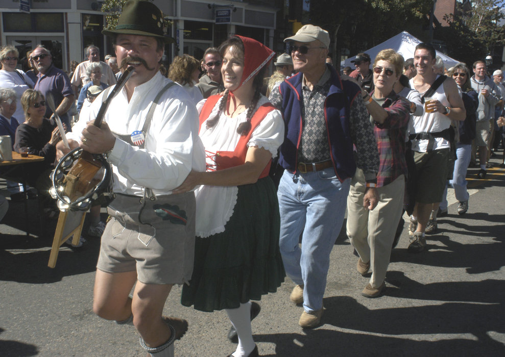 A view of an Oktoberfest celebration in Breckenridge, Colorado