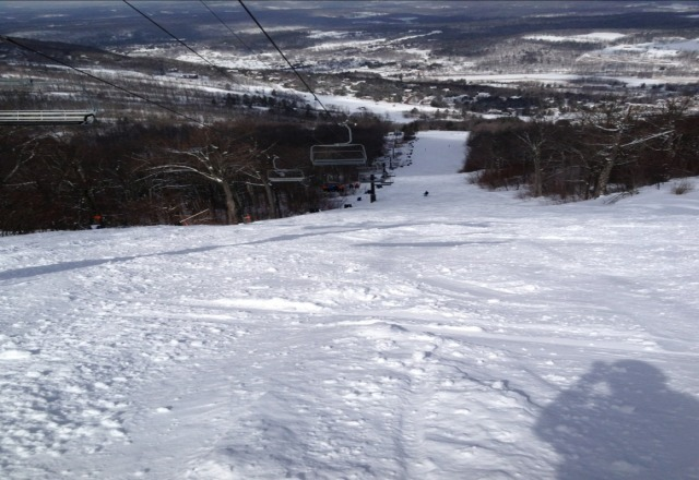 Best skiing of the year. Powder and packed powder. No ice and no lift lines