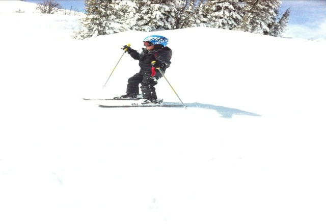 lot of nice powder early Saturday; had loads of fun