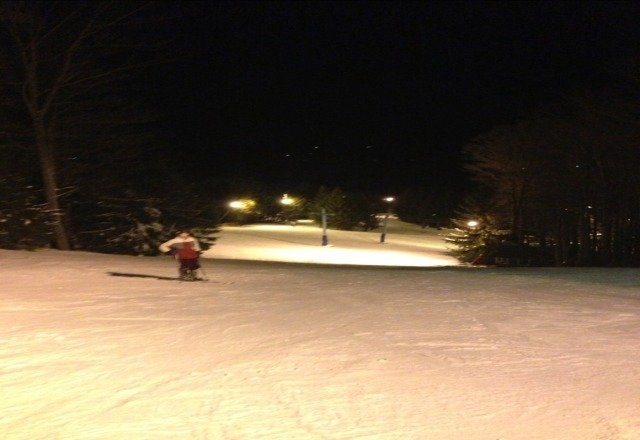i love night skiing at elk!