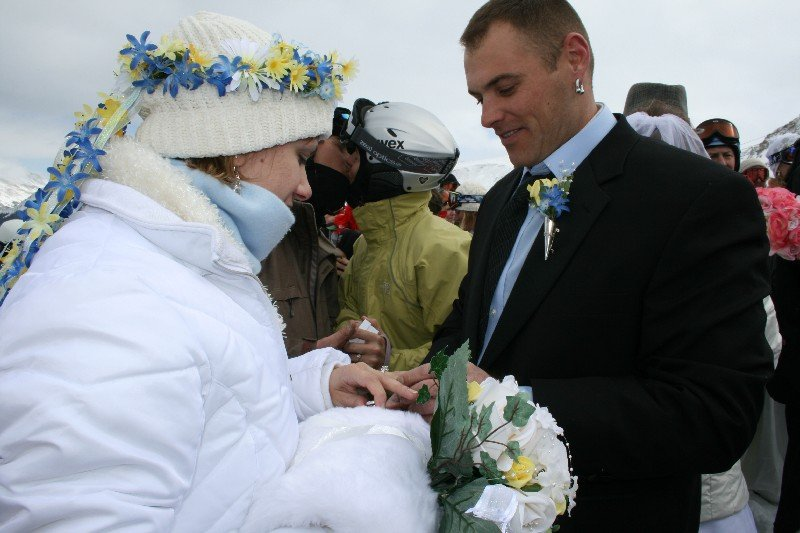 Couple getting married at Loveland, CO.