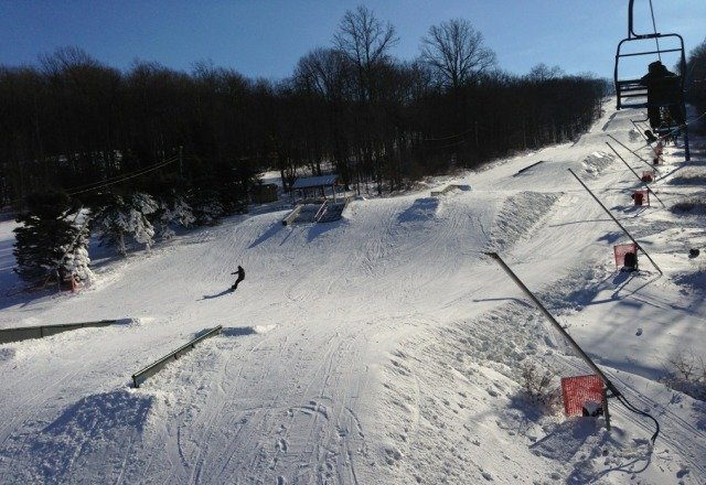 Bushkill park is looking great so far. Bus trips on the weekend are expected & will always add to congestion on the trails.. Certain lifties seem to not care and will send 1 and 2 people chairs up the high-speed Tomahawk Express, leading to unusually long lines.. Overall B+ for early Jan.