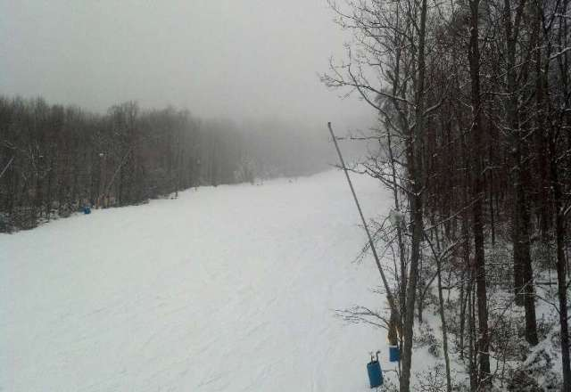 4 inches of fresh snow what a way to end season awesome cant wait till next year