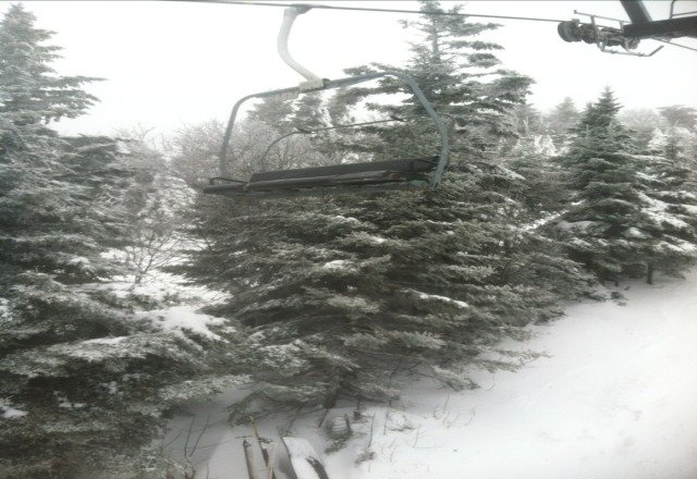 great conditions in morning yesterday. got real icy and windy in afternoon. snow totals are accurate for past two days