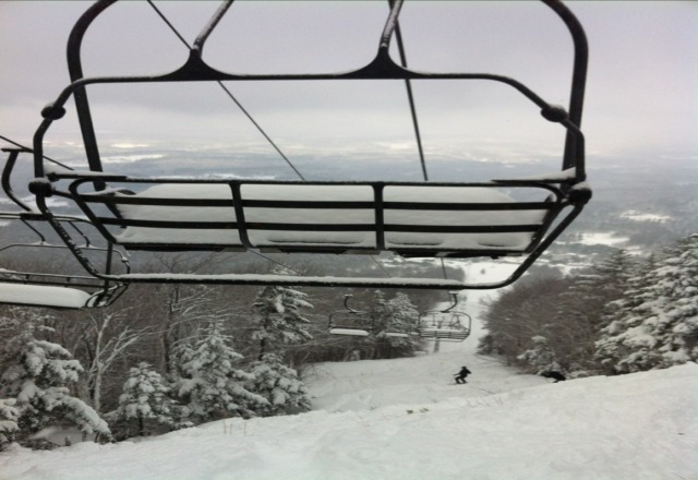 Magic was on today, knee deep powder on all trails. Was the best day ever. Im from Vermont I do what i want !!!
