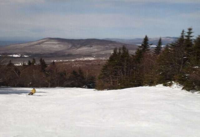 good snowpack, spring conditions.
