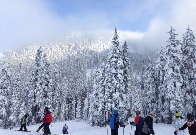 beautiful day of skiing last week!