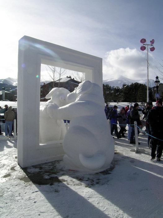 Ice sculpture in Breckenridge, Colorado