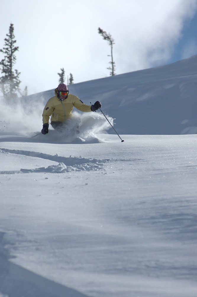 Wendy Fisher skiing in Crested Butte, Colorado