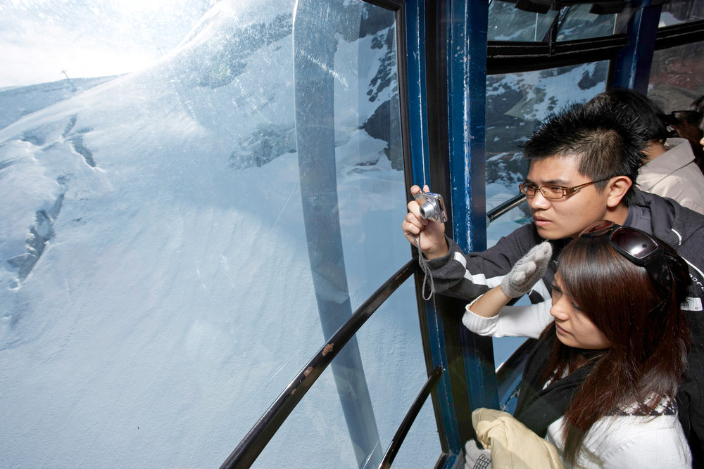 View from the Titlis Rotair rotating ski lift in Swiss Engelberg - ©Engelberg-Titlis Tourismus AG