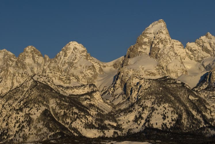 A scenic view of the Teton Mountains in Jackson Hole, Wyoming