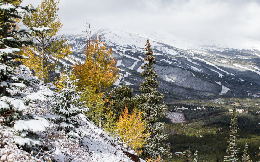 First snow for Breckenridge, Colorado