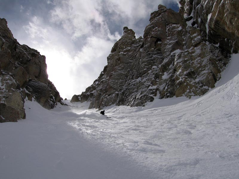 In the backcountry of Jackson Hole, Wyoming