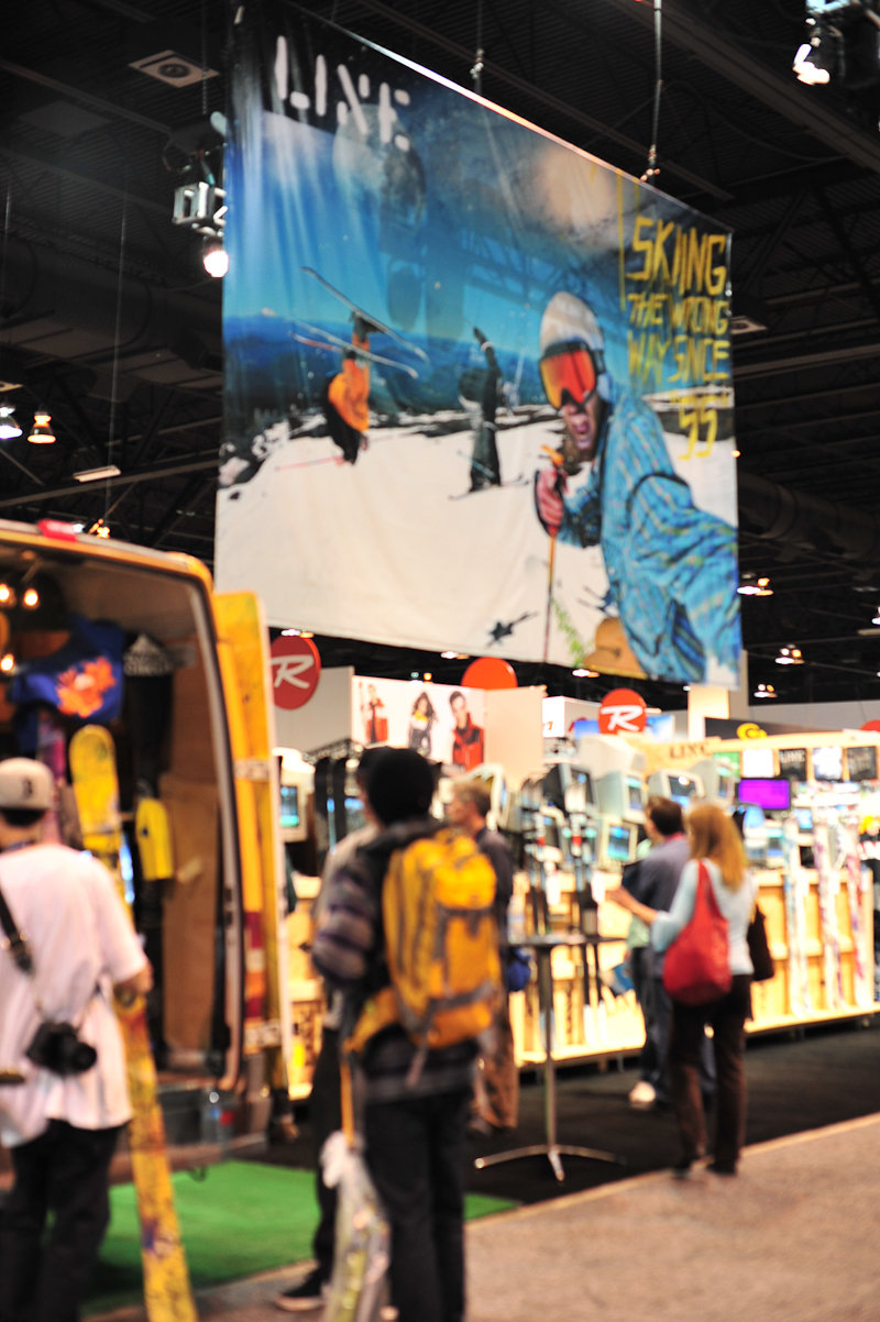 Line skis booth this year at SIA