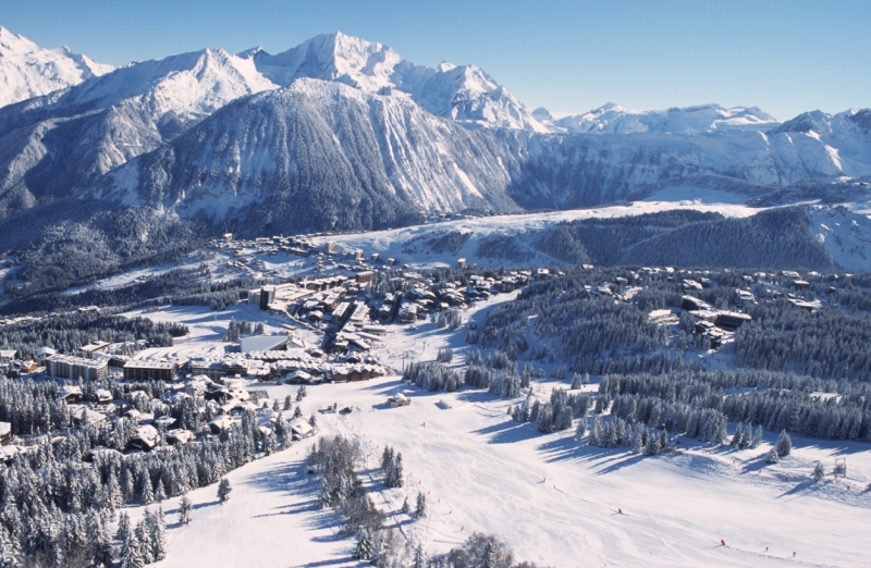 The town of Courchevel, France.