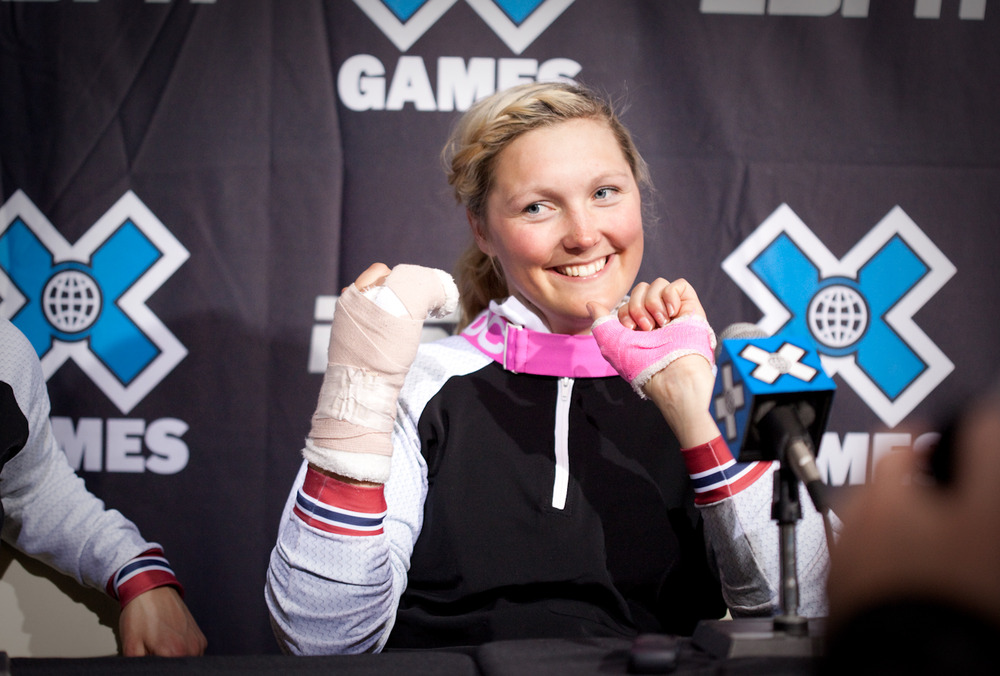 Marte Gjefsen, 1st place women's Skier X. By Sasha Coben