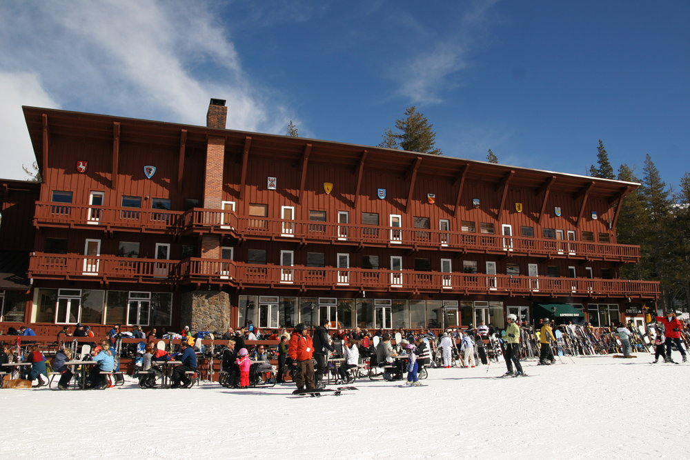 A view of the resort at Sugar Bowl Ski Resort, California