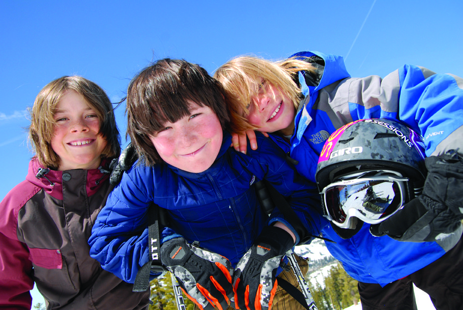 Kids enjoy an afternooon at Sugar Bowl Ski Resort, California