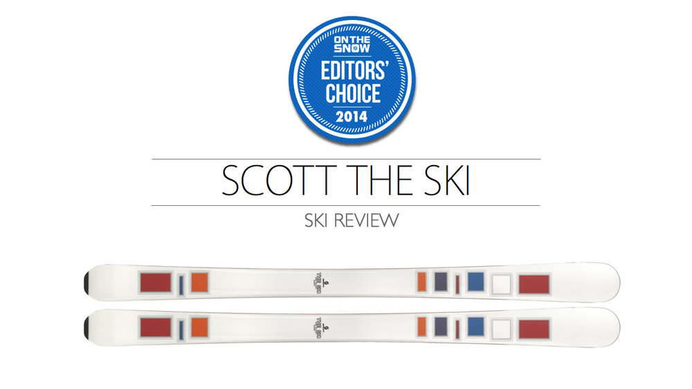 2014 Women's All-Mountain Editors' Choice Ski: Scott The Ski