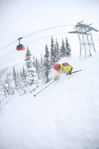 Best ski lifts: the iconic Peak2Peak gondolal in Whistler Blackcomb.
