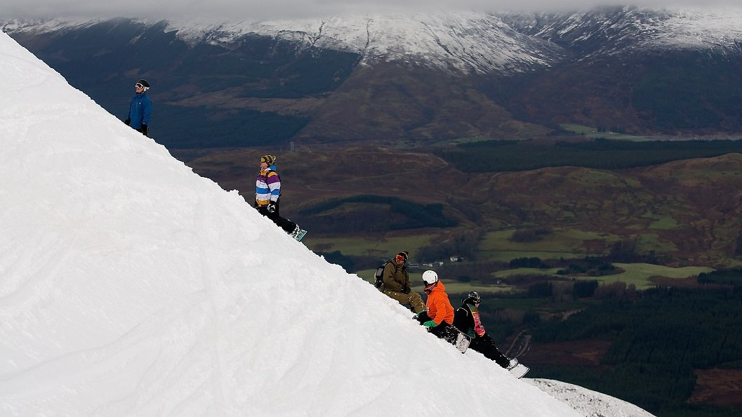 You choose your own way down in the Back Corries, Scotland