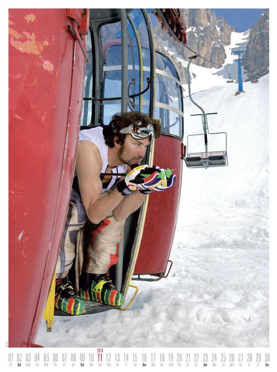 Mr November 2014 - Ski instructor calendar - ©Hubertus Hohenlohe/www.skiinstructors.at
