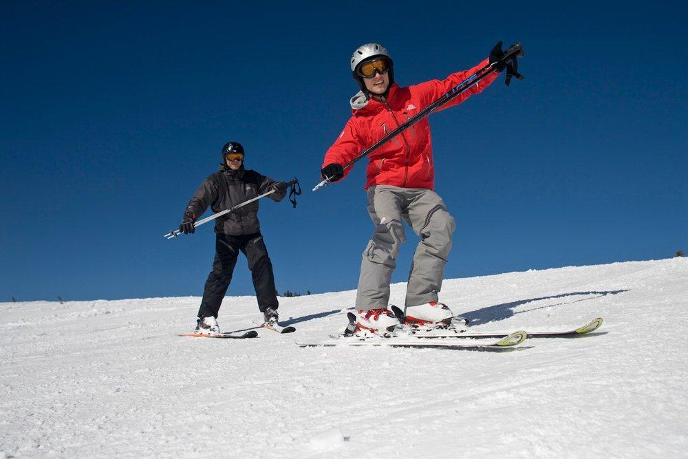 """Skifahren lernen mit einem """"Personal Coach"""" am Feuerkogel im Salzkammergut."""