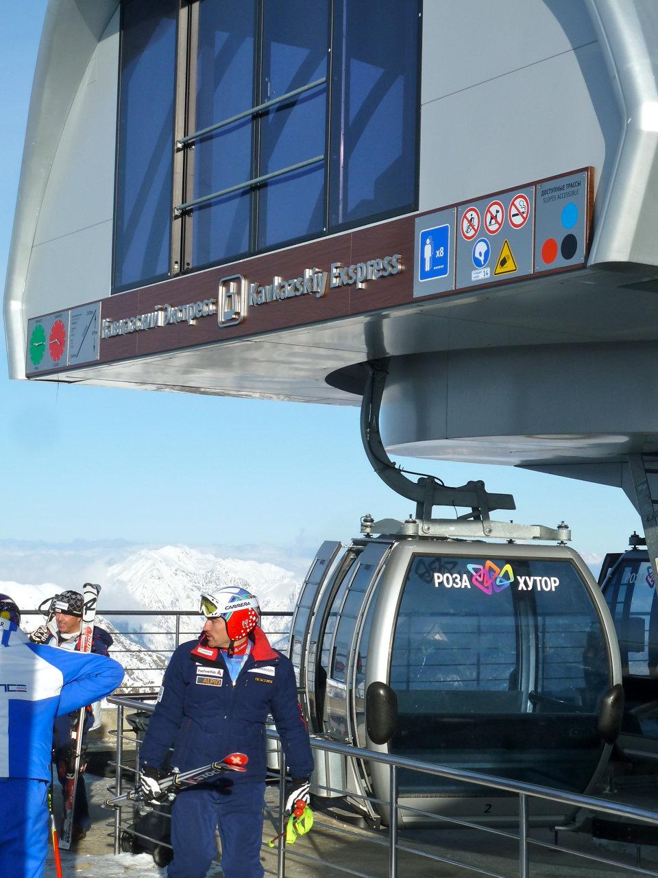 Rosa Khutor Summit Gondola. - ©Brian Pinelli