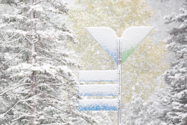 Snowfall at Snowbird