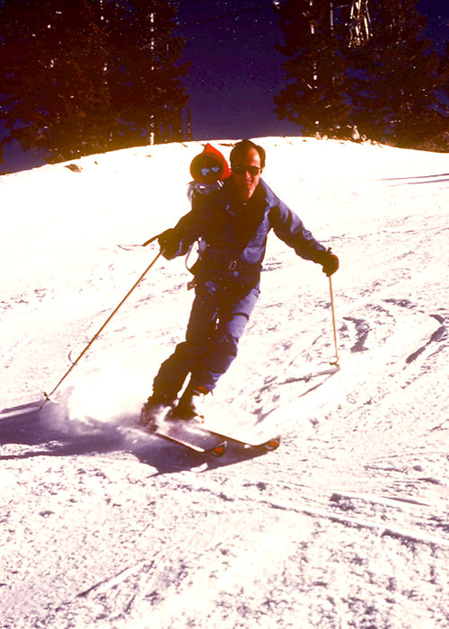 Ted Ligety and his father Bill at Park City, spring 1986