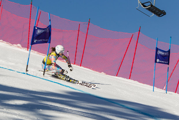 Mancuso killing the women's giant slalom. - ©Mark Epstein/U.S. Ski Team
