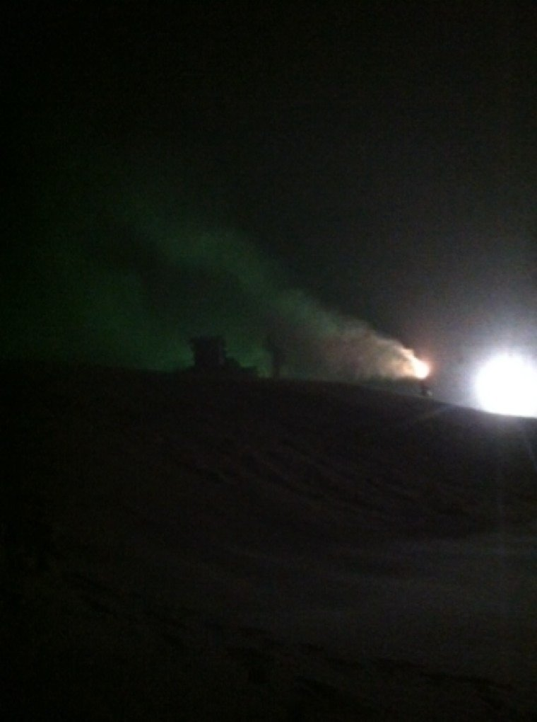 Night snowmaking at hv