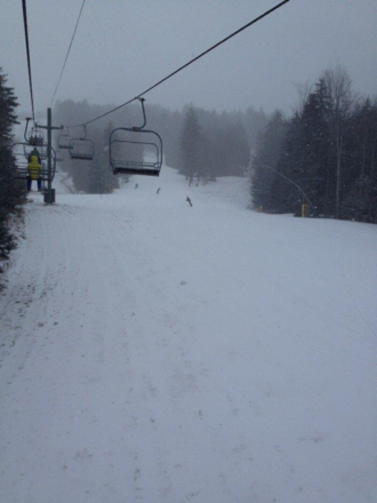 Good start Snowing, cold,windy