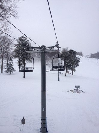 For a opening day on Thanksgiving any snow is good snow