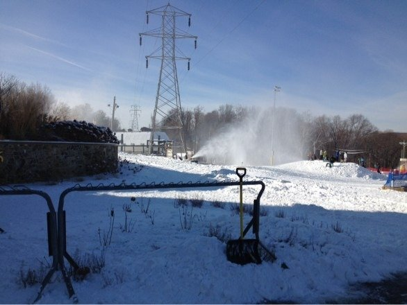 Sugar slope only trail opened 20$ lift tickets was worth the money if ur just getting ur legs back news here in town for hopefully and opening next weekend can only pray let's go snowmakers let's get this place rolling big ups to the south crew at creek langsta da gangsta hard at work trying to get this place up and running!!!!!